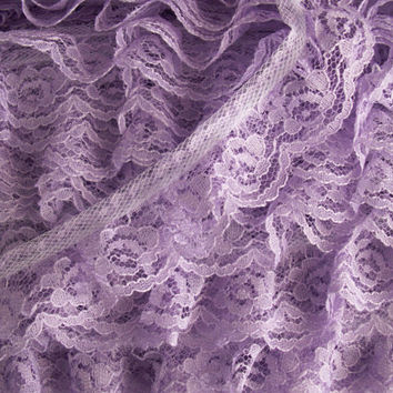 5 YARDS,Ruffled Lace Trim, Lavender,Sewing Lace,Doll Apparel,Gathered Lace,Lace Embellishment,Costumes,Fascinator Trim,Bows,Sachet Lace Trim