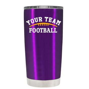 TREK Custom Football Team on Violet 20 oz Tumbler Cup