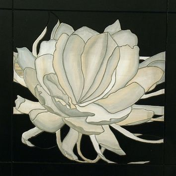Wall Art, White Flower, Wood Wall Decor, Decorative Wall hanging