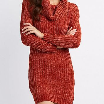 Chenille Cowl Neck Sweater Dress | Charlotte Russe