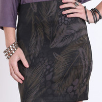 In Fine Feather Fitted Skirt - $19.50 : ThreadSence.com, Your Spot For Indie Clothing & Indie Urban Culture