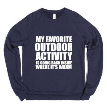 Favorite Outdoor Activity Navy Sweatshirt-Unisex Navy Sweatshirt