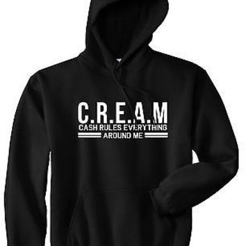 Kings Of NY Cream Cash Rules Everything Around Me Pullover Hoodie Sweatshirt