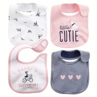 Carter's 4-pk. ''Little Cutie'' Bibs - Baby Girl (Pink)