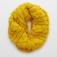Aerie Cable Knit Snood , Fools Gold