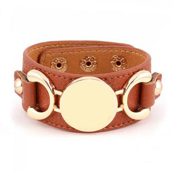 2017 New Monogram Leather Cuff Bracelet Pulseras 3 Row Gold/Silver Plated Multicolor Leather Bracelet For Women Men