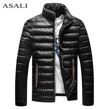 Men Parka Bomber Jacket Autumn Winter Snow Collar Jacket Mens Cotton Padded Coats Male Fleece Thick Windproof Raincoat Outwear