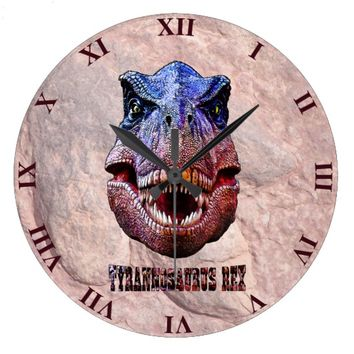 Tyrannosaurus Rex King Of Predators Large Clock