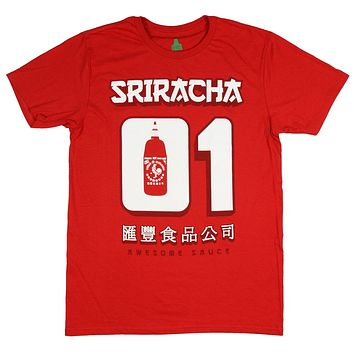 Sriracha Mens Hot Chili Awesome Sauce Number #1 01 Jersey T-Shirt