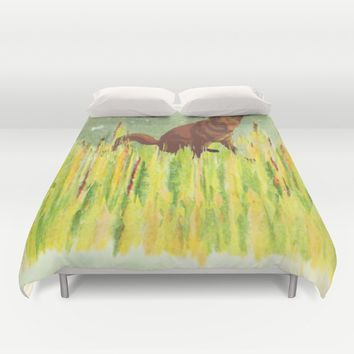 In the long grass Duvet Cover by anipani