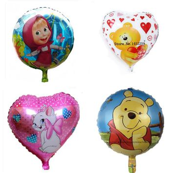 Free shipping Bare aluminum foil balloons cartoon balloon wedding room decoration children's toys balloon wholesale