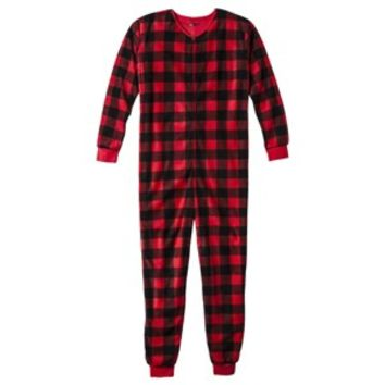 Men's Union Suit - Red Buffalo Plaid