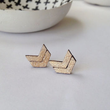 Gold Chevron Earrings/Chevron Earrings