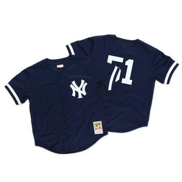 DCCKFC9 Mitchell & Ness Bernie Williams 1998 Authentic Mesh BP Jersey NY Yankees