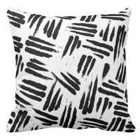 African Lion Claw Scratch Pattern Throw Pillow