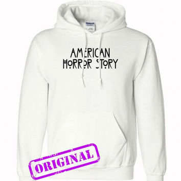 American Horror Story for hoodie white, hooded white unisex adult
