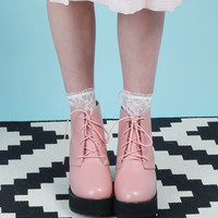 Round Toe Walker Boot Pink
