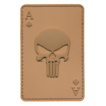 Ace of Spade or Ace of Death 3D PVC Patch