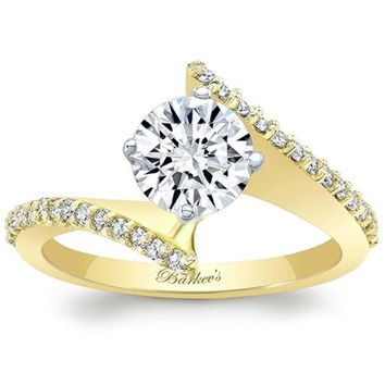 Barkev's Bypass Twist Diamond Engagement Ring