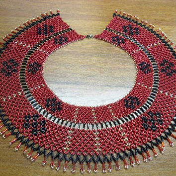 "Beaded collar necklace (sylyanka) ""Holiday mood"""