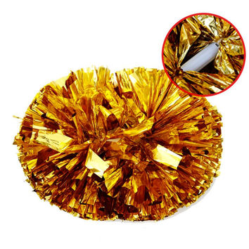 High quality 40CM game pompoms cheering supplies Cheerleader pom poms supplies PVC pompons Color can free combination 120