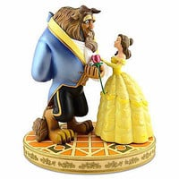 Disney Medium Figure Statue Belle Beauty And The Beast Rose Figurine New With Box