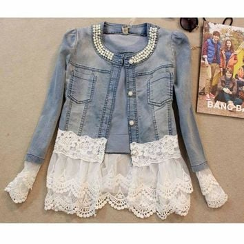 Carrie Lace Jeans Jackets