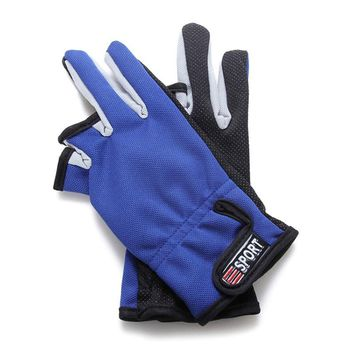 Outdoor Leisure Fishing Leak Three Fingers Gloves Non-slip Warm Sun Protection Riding Gloves