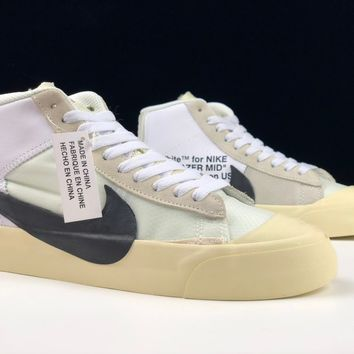 """[ Free  Shipping ]Off-White x Nike Blazer Mid """"All Hallows Eve""""AA3832-100 Basketball Shoes"""