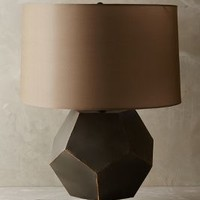 Angled Rondure Lamp Ensemble by Anthropologie in Grey Size: One Size Lighting