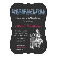 Alice in Wonderland birthday party custom vintage Cards from Zazzle.com