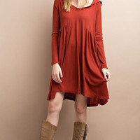 Thermal Hooded Cozy Dress