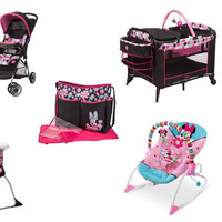 Disney - Minnie Mouse Dottie Baby Gear Bundle Collection Set