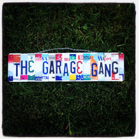 License plate sign. Custom. Man. Dad. Fathersday. Garage. Tools. Mechanic. Car. Beer. Roomdecor. Garagesign. Shop. Mancave