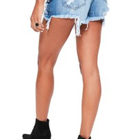 Missguided Studded Distressed Denim Shorts | Nordstrom