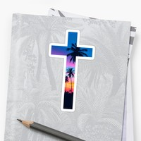 'Christian Cross' Sticker by Bethel Store