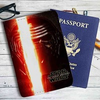 Star Wars The Force Awakens Kylo Ren Leather Passport Wallet Case Cover