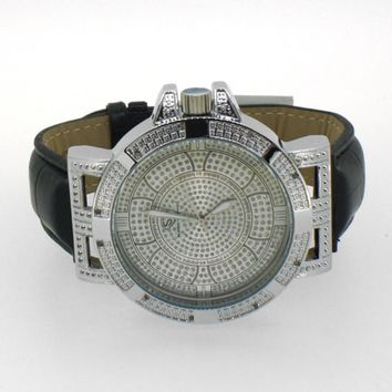 Swag Real Diamond Watch Super Techno Silver
