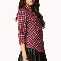 Plaid Western-Inspired Shirt | FOREVER 21 - 2079036041