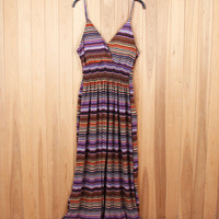 Stretchy Wave Print Beach Dress B005479