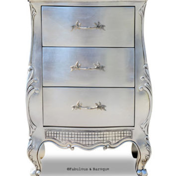Fabulous and Baroque — Fabulous & Baroque's Angelique Side Table - Silver
