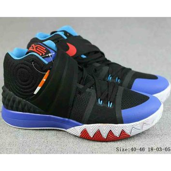 NIKE Irving 4th Generation Men's Trendy Basketball Shoes Boots F-A-FJGJXMY black/blue