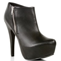 Black Side Zip Bootie