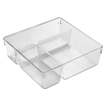 InterDesign Drawers - 3 Drawer Slim - Clear