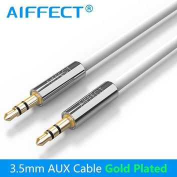 AIFFECT Jack 3.5mm Cable Auxiliary AUX Audio Cable AUX Cord Line Wire for Car Headphone Home Stereos Phone MP3