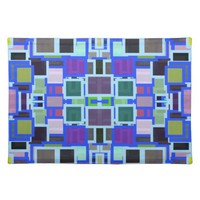 Colorful Abstract Geometric Jumble Placemat