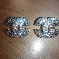 Classic Chanel Rhinestone Earrings (Large) from House 2 Home