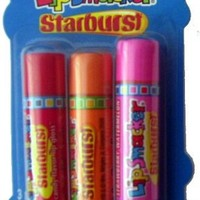 Bonne Bell Lip Smacker Starburst Trio - Baja Fruits -Lip Gloss 3 Pk