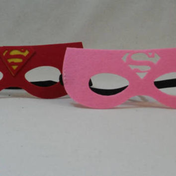 Superman Mask, Supergirl, Superwoman Party Mask Favors