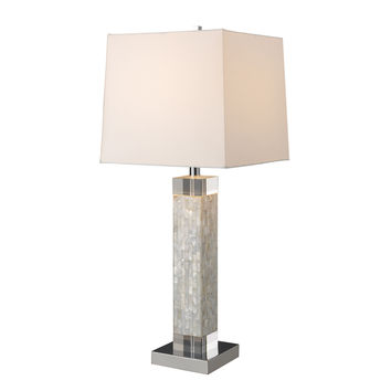Luzerne Table Lamp in Mother Of Pearl with Milano Off White Shade